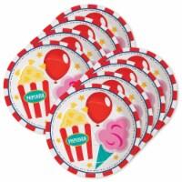 BirthdayExpress 305405 Carnival Dessert Plates - 24 Piece - 24