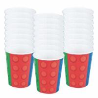 BirthdayExpress 305413 9 oz Block Party Cups - 24 Piece