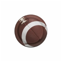 Birth5000 307065 7 in. Football Dessert Plate, Pack of 8