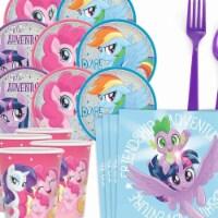 BuySeasons 309001 My Little Pony Friendship Adventures Standard Tableware Kit - 8 Serve - 1