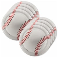 BuySeasons 307376 9 in. Baseball Lunch Plate - 24 Piece - 1