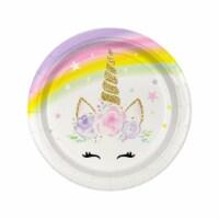 Birth5000 620743 7 in. Dreamy Unicorn Dessert Plate