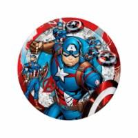 Birth5000 627553 7 in. Avengers Captain America Dessert Plate - Pack of 12 - 1