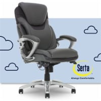 Serta AIR Executive Office Chair Grey Bonded Leather - 1
