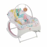 Fisher-Price Portable Vibrating Newborn to Toddler Rocking Chair Seat, Pink - 1 Unit