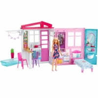 Barbie and Close & Go Doll House - Blonde