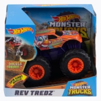 Hot Wheels Monster Trucks Rev Tredz Double Trouble Vehicle