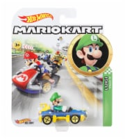 Mattel Hot Wheels Mario Kart Luigi, MACH 8 Vehicle - Multicolor