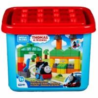 Mega Bloks Thomas & Friends Sodor Adventures 60pc Building Set Tub Storage - 1 unit