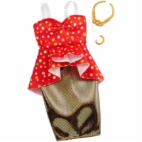 Barbie Clothes: 1 Outfit and 2 Accessories Dolls, 8, GHW81 - 1