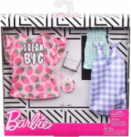 Barbie Dresses Top & Doll Accessories - Strawberry-Print & Gingham Check