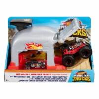 Mattel Hot Wheels® Monster Trucks Team Bone Shaker Pit and Launch Play Set - 1 ct