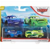 Disney Pixar Cars Spikey Fillups and Chase Racelott Toy Racers