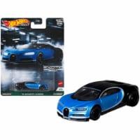 Bugatti Chiron \16\ Black and Light Blue Metallic \ Exotic Envy\  Series Diecast Model Car - 1