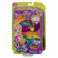 Polly Pocket Corgi Cuddles Compact with Pet Hotel Theme, Micro Polly & Shani Dolls - 1