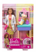 Barbie Pediatrician Playset, Brunette Doll, Exam Table, X-ray & Accessories - 1