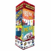 Mattel 8ct Card Games Mega Pack Uno Pictionary Phase 10 Mad Gab Dos Bold Blink Pic Flip - 1 unit