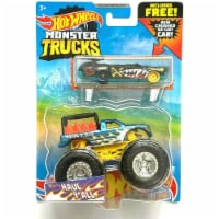 Hot Wheels Monster Trucks Haul Y'all and Crushed Wagon Flat Iron - 1:64 Scale - 1