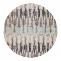 Jaipur Living RUG142719 Norwich Indoor & Outdoor Geometric Round Area Rug, Gray & Blue-7x7