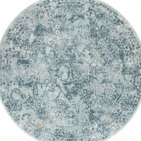 Jaipur Living RUG142764 Yvie Abstract Power Loomed Round Area Rug, Blue & Teal - 6 x 6 ft. - 1