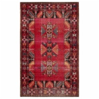 Jaipur Living RUG142952 Paloma Indoor & Outdoor Tribal Area Rug, Red & Black - 7 ft. 6 in. x