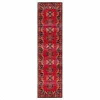 Jaipur Living RUG142953 Paloma Indoor & Outdoor Tribal Runner Rug, Red & Black-2ft 6in x 8ft