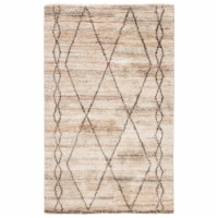 Jaipur Living RUG143959 Murano Hand-Knotted Trellis Area Rug, Tan & Brown - 5 x 8 ft. - 1