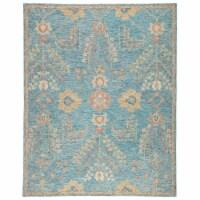 Jaipur Living RUG143983 Juniper Handmade Oriental Area Rug, Teal & Orange - 8 x 10 ft. - 1