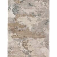 Jaipur Living RUG145735 9 x 12 ft. Glacier Handmade Abstract Light Gray & Taupe Area Rug