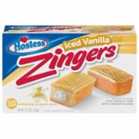 Hostess Iced Vanilla Zingers Snack Cakes - 10 ct / 1.27 oz