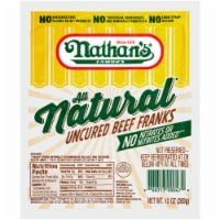 Nathan's Famous All Natural Uncured Beef Franks - 6 ct / 10 oz