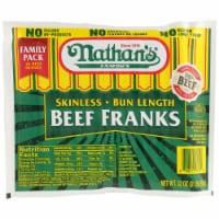 Nathan's Famous Bun Length Beef Franks - 16 ct / 32 oz