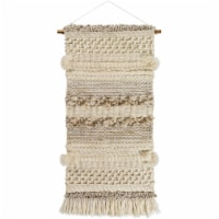 Surya AFC1000-2453 24 x 53 in. Artifice Hand Woven Wall Hanging, Cream, Ivory & Tan - 1