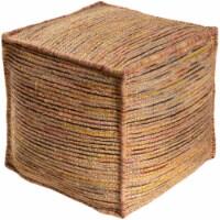 Surya EZPF002-181818 18 x 18 x 18 in. Esperanza Removable Cover Pouf - 70 Percent Jute, 30 Pe