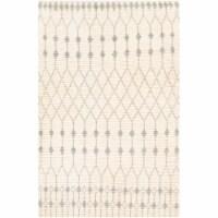 Surya BON2300-576 5 ft. x 7 ft. 6 in. Beni Ourain Hand Woven Rug, Cream & Light Gray - 1