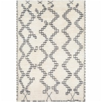 Surya BON2301-810 8 x 10 ft. Beni Ourain Hand Woven Rug, Cream & Medium Gray - 1