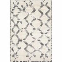 Surya BON2301-81012 8 ft. 10 in. x 12 ft. Beni Ourain Hand Woven Rug, Cream & Medium Gray - 1