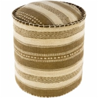 Surya INPF003-161616 16 x 16 x 16 in. Bindi Removable Cover Pouf, Olive & Cream