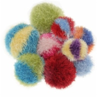 OoMaLoo Hand Knit Squeaky Ball Dog Toy X-Large 7   (Ball-XL)assorted colours - 1