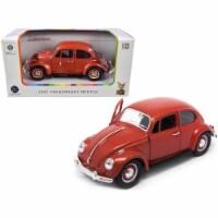 1967 Volkswagen Beetle Copper Metallic 1/24 Diecast Model Car by Road Signature - 1