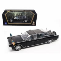 Road Signature 24078 1961 Lincoln X-100 Limousine Quick Fix with Flags 1-24 Diecast Model Car