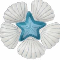 Avon 33537522 14 in. Starfish with Seashells Serving Platter Set - Blue & White - Set of 6