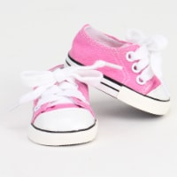 Sophia's by Teamson Kids Light Pink Canvas Sneaker Shoe with Laces for 18  Dolls - 1