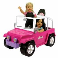 Sophia's by Teamson Kids 4 x 4 Hot Pink Beach Cruiser Truck for 18  Dolls - 1