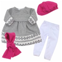 Sophia's by Teamson Kids Doll Dress, Leggings, Hat, and Scarf Set for 18  Dolls - 1