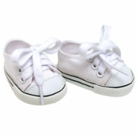 Sophia's by Teamson Kids White Canvas Sneaker Shoes with Laces for 18  Dolls - 1