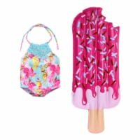 Sophia's by Teamson Kids Bathing Suit and Popsicle Pool Float Set for 18  Dolls - 1