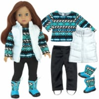 Sophia's by Teamson Kids Sweater, Leggings, Vest, and Boots Set for 18  Dolls - 1