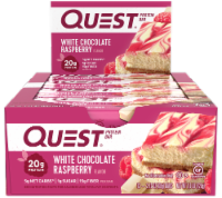 Quest White Chocolate Raspberry Flavor Protein Bars 12 Count