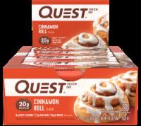 Quest Cinnamon Roll Protein Bars 12 Count - 1.6 lb